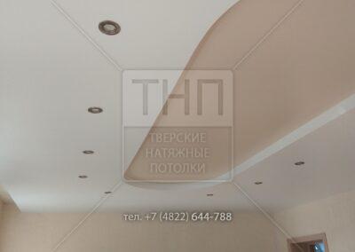 Двухуровневый натяжной потолок в конференц-зале