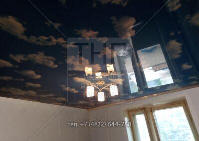 Облака на натяжном потолке в детской комнате