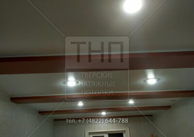 Обход балок натяжным потолком